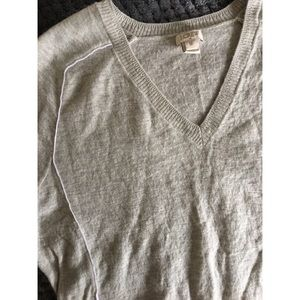 JCREW Grey V-neck Sweater